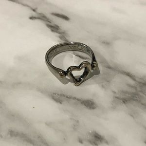 Tiffany & Co Elsa Peretti Open Heart Ring - Size 5